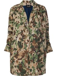Rachel Comey Painted Camouflage Coat Green