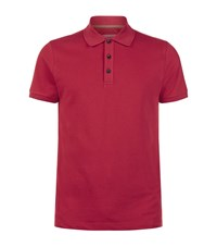 Armani Collezioni Cotton Stretch Polo Shirt Male Red