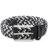 Andersons Anderson's Woven Textile Belt Black Grey And White