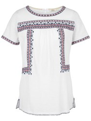 Fat Face Hope Embroidered Top Ivory