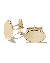 Bergdorf Goodman 14K Engraveable Oval Cuff Links
