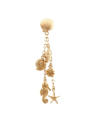 Valentino Shell And Seahorse Drop Earings
