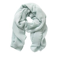 Betty Barclay And Co. Long Pleated Scarf Cloud Green