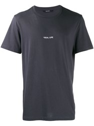 Zadig And Voltaire Ted Photoprint Real Life T Shirt Grey
