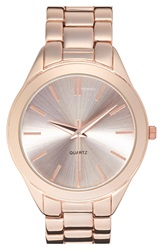 Bp 'Boyfriend' Bracelet Watch 42Mm Rose Gold