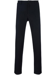 Plac Pinstripe Tailored Trousers Blue