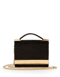 Brian Atwood Ava Leather Box Shoulder Bag Black