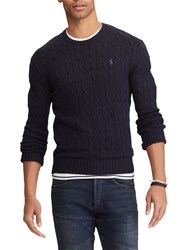 Ralph Lauren Polo Long Sleeve Cable Knit Jumper Hunter Navy