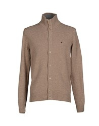 Brooksfield Knitwear Cardigans Men Dark Brown