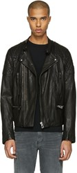 Belstaff Black Leather Greensted Jacket