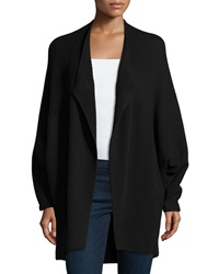 Lafayette 148 New York Cashmere Blend Open Front Dolman Sleeve Sweater Black