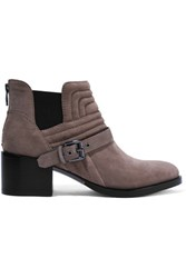 Sigerson Morrison Kabira Nubuck Ankle Boots Gray