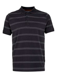 Topman Peter Werth Navy Polo Shirt Blue