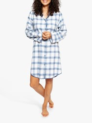Cyberjammies Harper Check Nightshirt White Navy