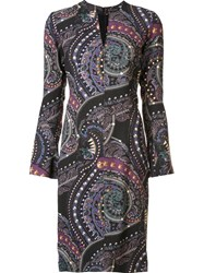 Etro Paisley Print Dress Pink And Purple