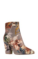 Nine West Women's Savitra Pointy Toe Bootie Taupe Multi Fabric