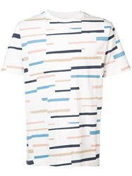 Wesc Max Broken Stripe T Shirt Men Cotton S White