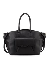 Time's Arrow Jo Large Leather Tote Bag Black