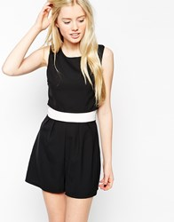 Wal G Tailored Playsuit Black