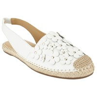 John Lewis Laurie Floral Slingback Espadrilles White