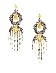 Bcbgmaxazria Stone Fringe Earrings