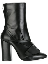 N 21 No21 Chunky Heel Pointy Boots Black