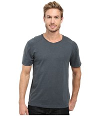 Agave Banner Short Sleeve 100 Cotton Slub India Ink Men's Short Sleeve Pullover Gray