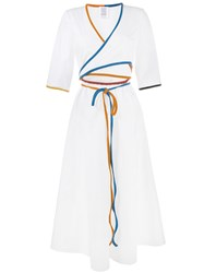 Rosie Assoulin Short Sleeve Wrap Dress White