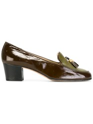 Celine Vintage Tasseled Loafers Brown