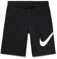 Nike Sportswear Club Fleece Back Cotton Blend Jersey Drawstring Shorts Black