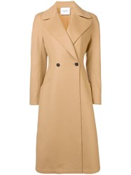Dondup Two Button Coat Nude And Neutrals