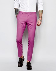 Noose And Monkey Suit Trousers With Stretch In Super Skinny Fit Pink