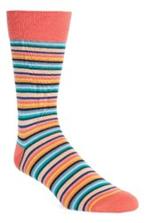 Paul Smith Men's Degrade Stripe Socks Orange