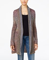 American Rag Juniors' Marled Pointelle Cardigan Only At Macy's Dusty Olive