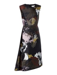 Linea Bene Floral Asymmetric Dress Multi Coloured