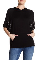 Cullen Fairisle Stripe Silk Blend Hoodie Black
