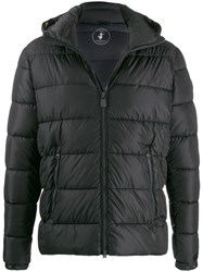 Save The Duck Hooded Quilted Coat Grey