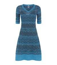 M Missoni Half Sleeve Lurex Zig Zag Dress Female Blue