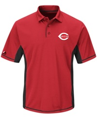 Majestic Men's Cincinnati Reds Top Of The Inning Polo