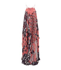 Chloe Flower Fil Coupe Maxi Dress Female Multi