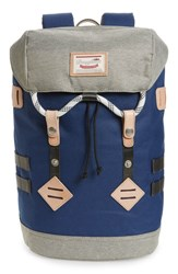 Doughnut Small Colorado Water Repellent Backpack Blue Navy Beige