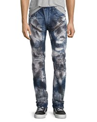 Prps Barracuda Bleached And Distressed Denim Jeans Dark Indigo