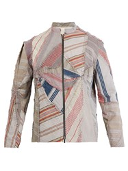 By Walid Ticking Patchwork Cotton Jacket Multi