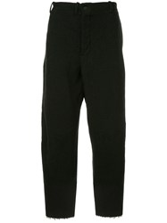Forme D'expression Lgsb Cropped Swag Trousers Black