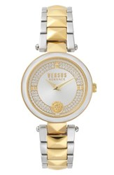 Versus By Versace Women's Covent Garden Crystal Accent Bracelet Watch 36Mm Gold White Silver