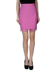 Dsquared2 Knee Length Skirts Fuchsia