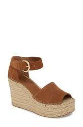 Marc Fisher 'S Ltd Alida Espadrille Platform Wedge Pink Suede