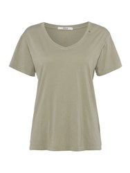 Replay Garment Dyed Cotton T Shirt Carbon