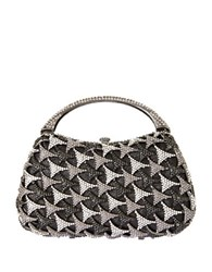 Natasha Crystal Studded Top Handle Bag Gunmetal