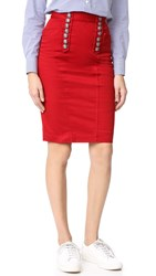 Dsquared High Waisted Pencil Skirt Red